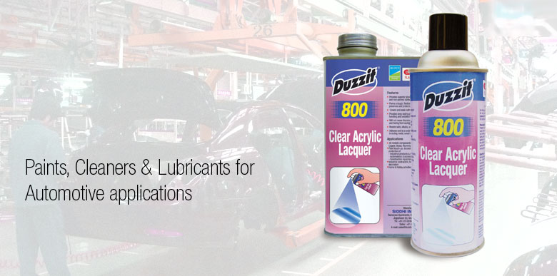 Duzzit Aerosols for Automotive Applications